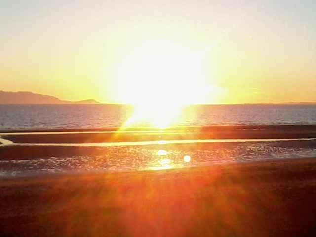 Sunset over Arran from Ayr<br />taken on the 29th June 2014