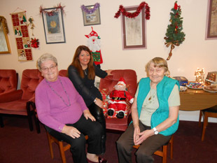 Forehill, Holmston and Masonhill Community Council presented a Christmas gift of chocolates to each of the 35 households at Orchard and Hamilton House.