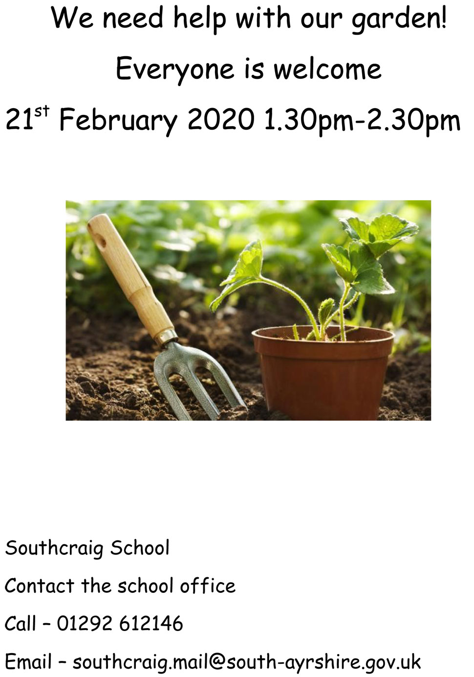 Southcraig School need help with their garden
