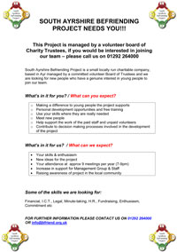 South Ayrshire Befriending Project Management Group Recruitment