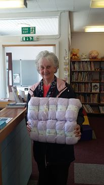 Forehill Library Knit and Natter group received a donation of wool from FHMCC.
