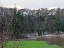 River Ayr during floods taken on the 30th December 2013