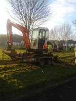 Drainage work at Glencairn Park.